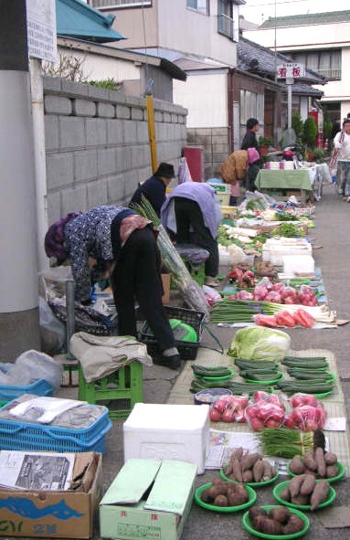 Katsuura morning market Nov 2005