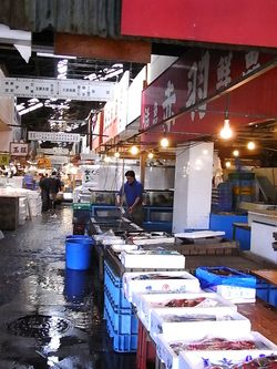 Tsukiji Market wholesale area