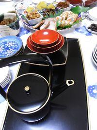 Sake pot and cups